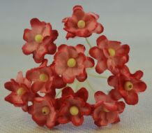 RED PINK CHERRY BLOSSOM Mulberry Paper Flowers